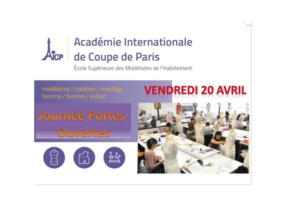 Journée Portes Ouvertes à l'AICP le 20/04/2018 de 14:00-17:00