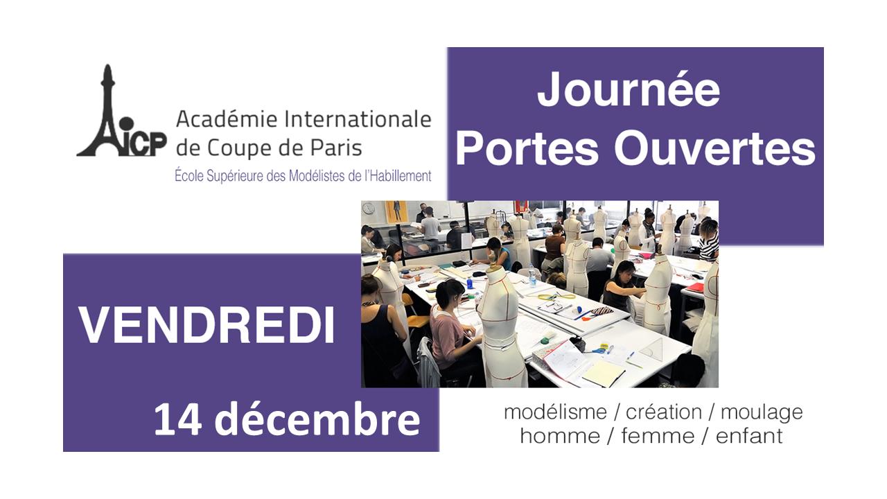 Journée Portes Ouvertes à l'AICP le 14 décembre 2018 de 14:00 à 16:30